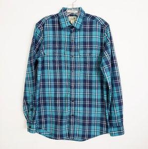 L.L. Bean Freeport Plaid Flannel Shirt S